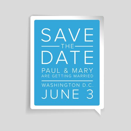 tearaway: Save the date label