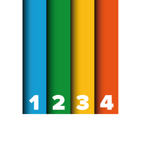 bar one: One two three four progress bar stripes