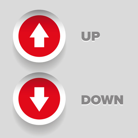raise the thumb: Up-down arrow graphics  buttons
