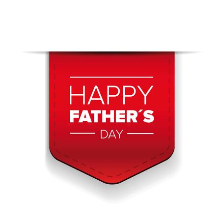 Happy Fathers day red ribbon