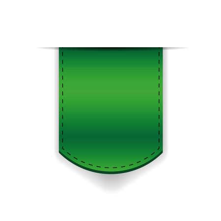 green ribbon: Green ribbon bookmark vector