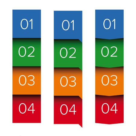 bar one: One two three four five progress bar Illustration