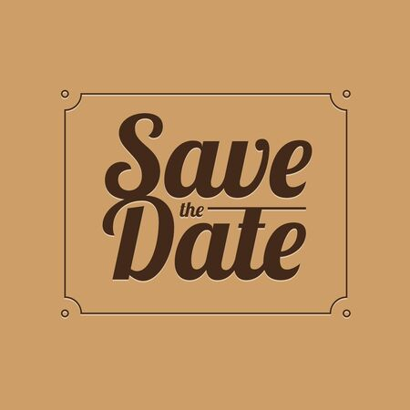 date: Save the date vector Illustration