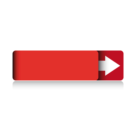 red button: Empty red button vector