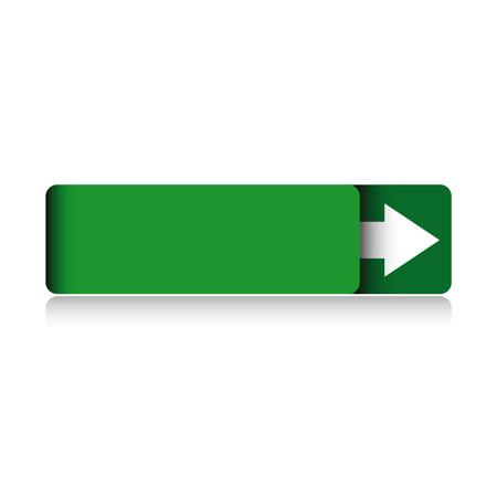 green button: Empty green button vector
