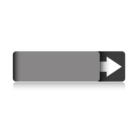 Empty grey button vector Illustration
