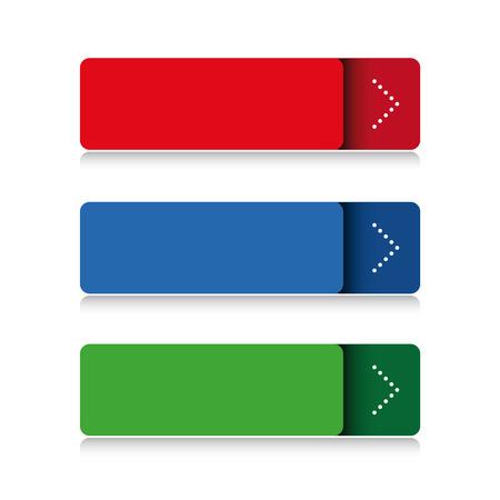 blank button: Blank button vector set Illustration