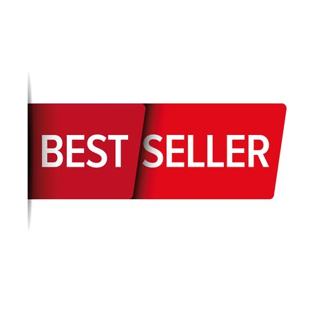 seller: Best seller red vector