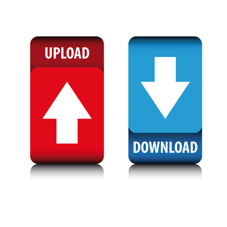 torrent: Upload and Download button vector
