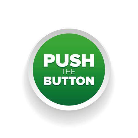 プッシュ ボタン ベクトル グリーン  イラスト・ベクター素材