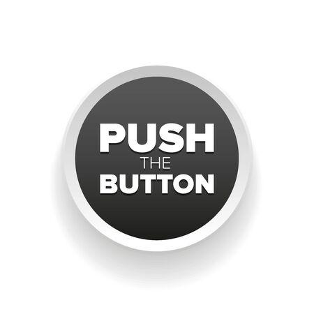 push: Push button vector grey Illustration