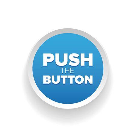 push: Push button vector blue