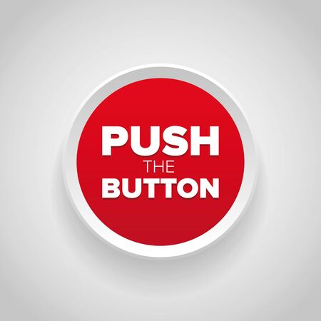 Push button vector red Illustration
