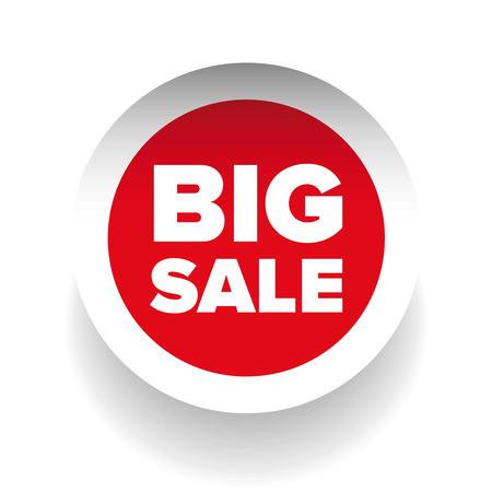 cut away: Big Sale label vector Illustration