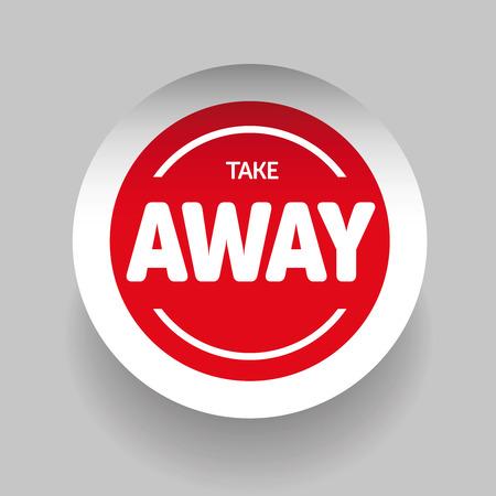 Take Away Aufkleber Vektor Standard-Bild - 52237189