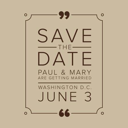 tearaway: Save The Date, Wedding Invitation Card