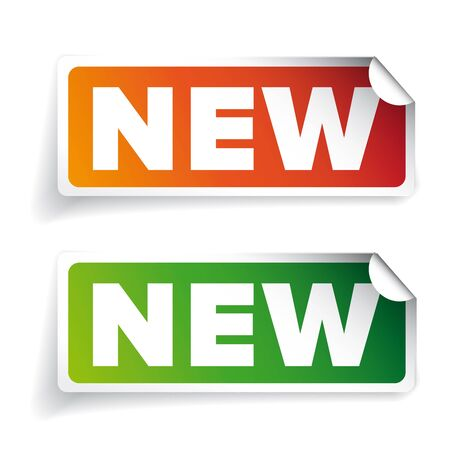 sticker: New sticker label vector