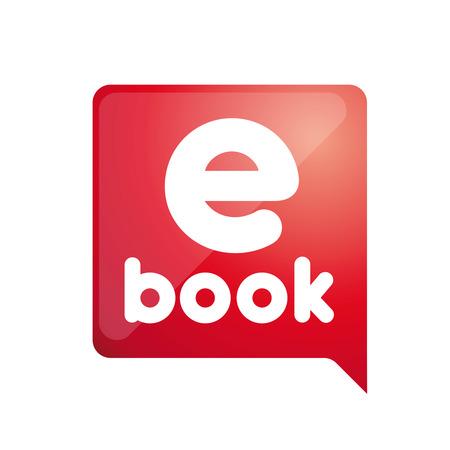 E -book. Electronic Library icon Vector Illustration