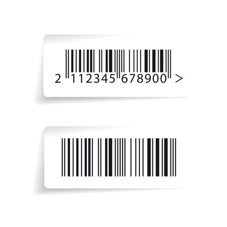 Wektor etykiet kodów kreskowych