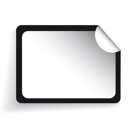 peeling corner: Blank sticker vector red Illustration