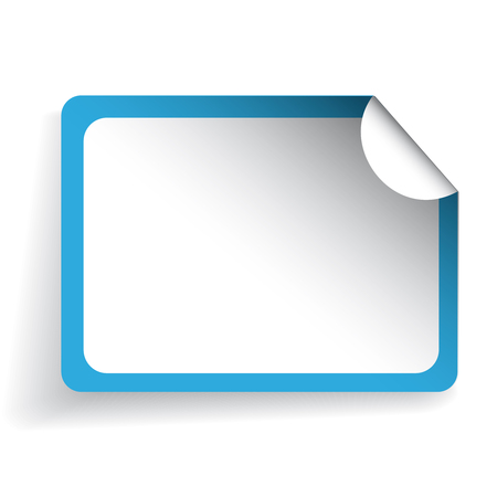 sticker vector: Blank sticker vector blue