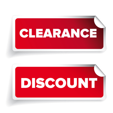 clearance: Clearance and discount vector label Illustration