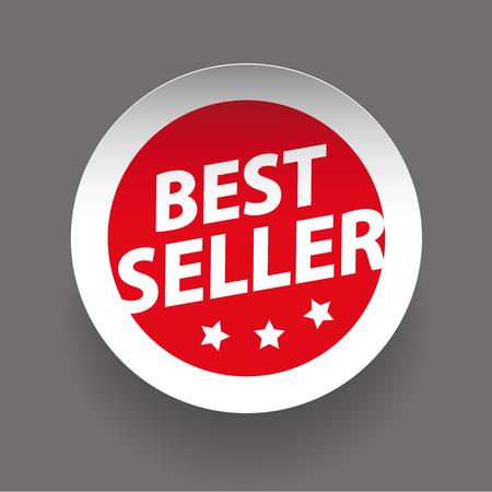 seller: Best seller sticker vector