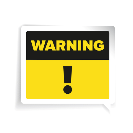 heed: Warning sign vector label