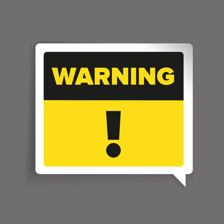 Warning sign vector label