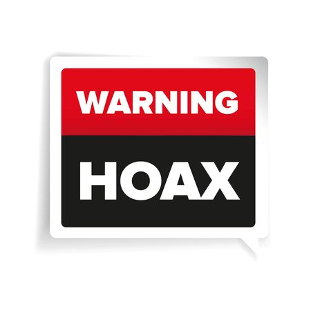 hoax: Warning of Internet Hoax vector