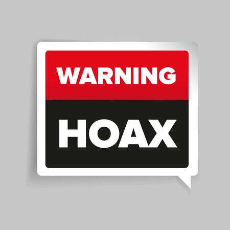 Warning of Internet Hoax vector