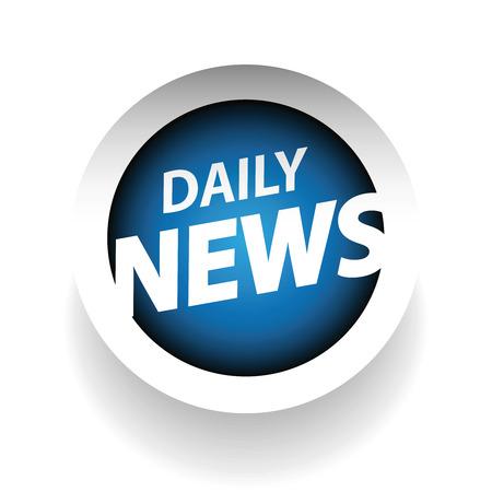 blue button: Daily news blue button