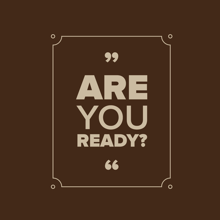 readiness: Are you ready? lettering Illustration