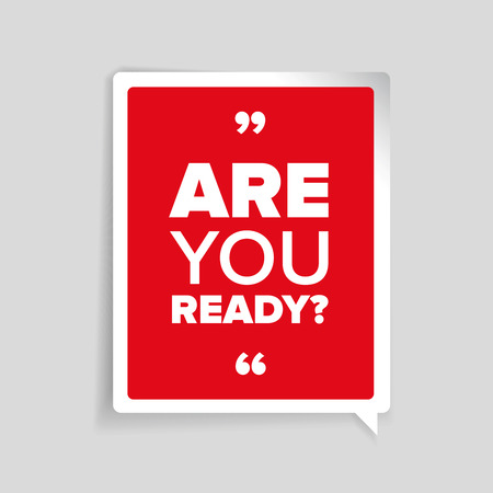 ready: Are you ready? lettering Illustration