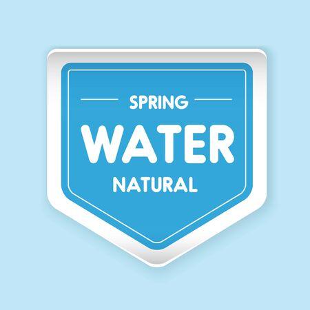 spring water: Spring water label vector