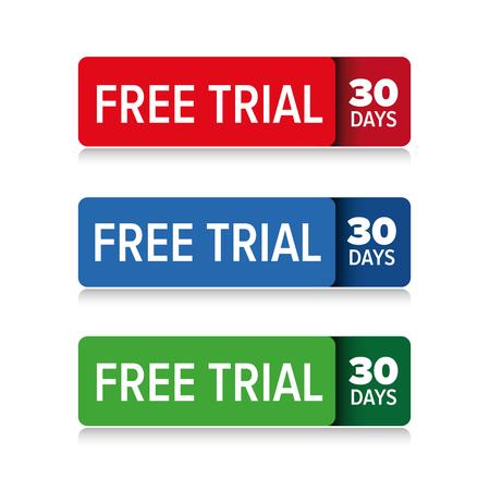 無料トライアル 30 日ベクター  イラスト・ベクター素材