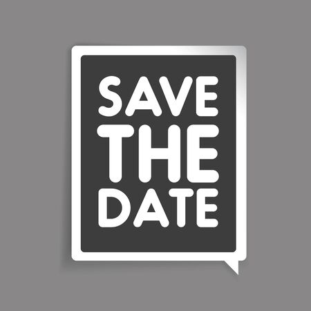 tearaway: Save the date vector label Illustration