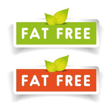 Fat free label set