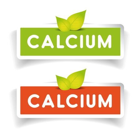 calcium: Calcium label set Illustration