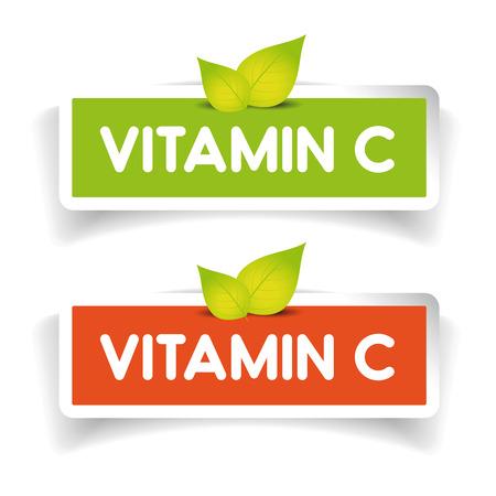 La vitamina C etichetta insieme Archivio Fotografico - 53649408