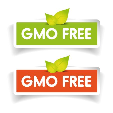 genetically modified crops: GMO free label set