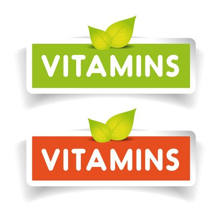Vitamins label set