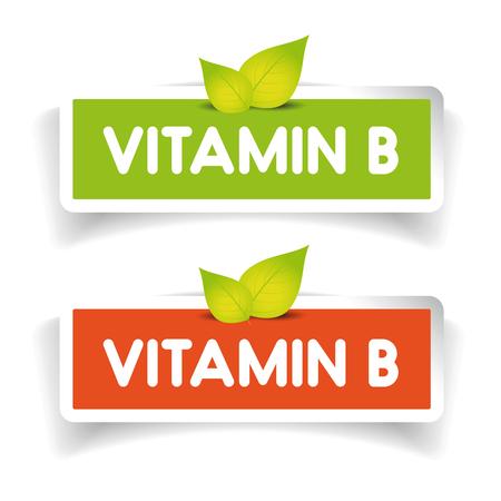 minerals: Vitamin B label set