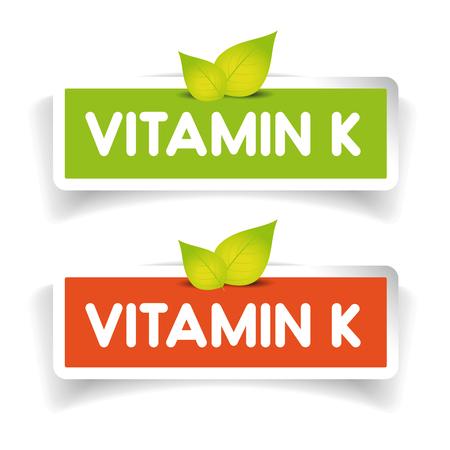 vitamin: Vitamin K label vector set