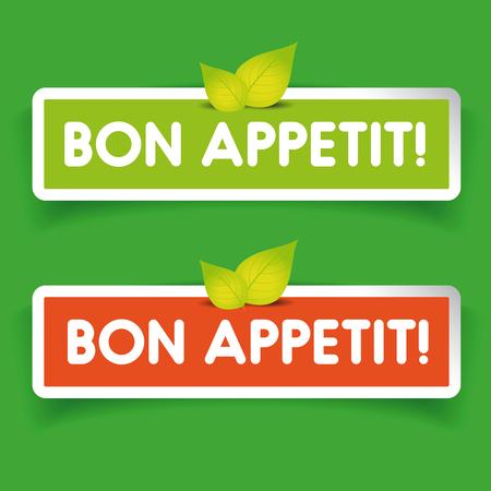 bon: Bon Appetit! label vector Illustration