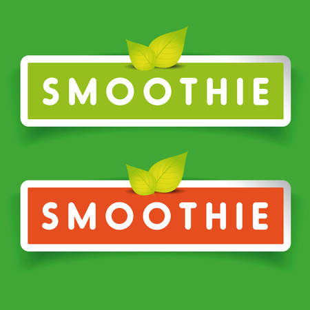 smoothie: Smoothie label vector sign Illustration