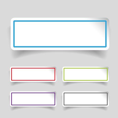Empty label stickers set  イラスト・ベクター素材