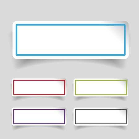 sticker: Empty label stickers set Illustration