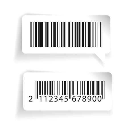 laser tag: Barcode labels vector set