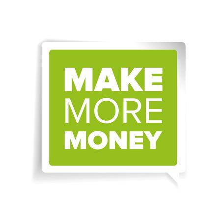 Make more money label Vektorové ilustrace